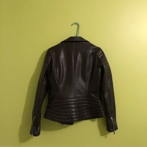 Blank NYC Jackets & Coats - blank nyc brown leather moto jacket